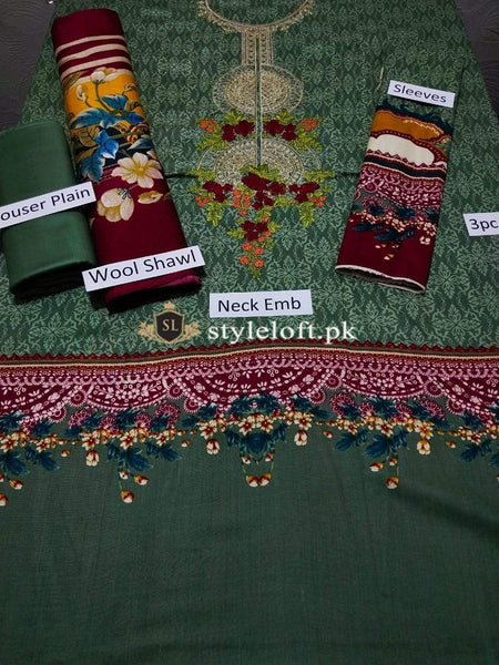 Styleloft.pk MB-005A Unstitched Winter Collection 3 PIECE