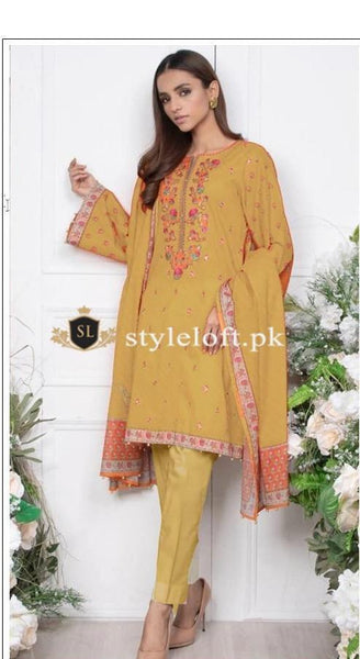 Styleloft.pk Orient Unstitched Winter Collection 2020 3 PIECE
