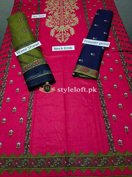 Styleloft.pk Pink Tree Unstitched Winter Collection 2020 3 PIECE