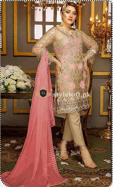 Styleloft.pk Ramsha Lawn Collection 2020-Full Embroidered Unstitched 3 Piece Suit 3 PIECE