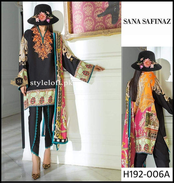 Styleloft.pk Sana Safinaz Lawn Collection 2020 Unstitched 3 Piece Suit 3 PIECE