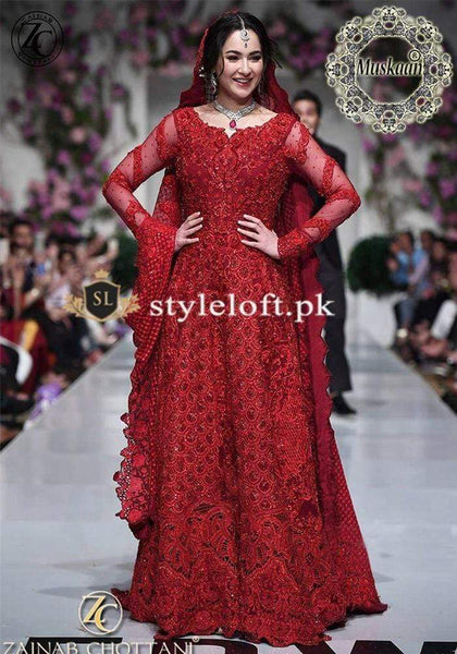Styleloft.pk Zainab Chottani Bridal Chiffon Collection 3 PIECE