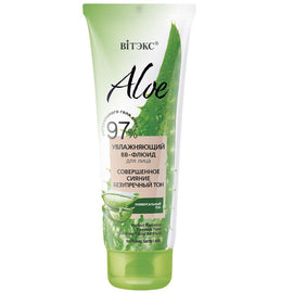 "ALOE ""Perfect Radiance & Flawless Tone"" Hydrating Facial BB-Fluid - Belita.store"