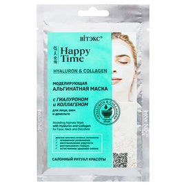 HAPPY TIME Modeling Alginate Mask with Hyaluron & Collagen for Face, Neck & Décolleté (sachet) FREE shipping - Belita.store