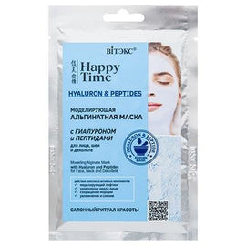 HAPPY TIME Modeling Alginate Mask with Hyaluron & Peptides for Face, Neck & Décolleté (sachet) FREE shipping - Belita.store