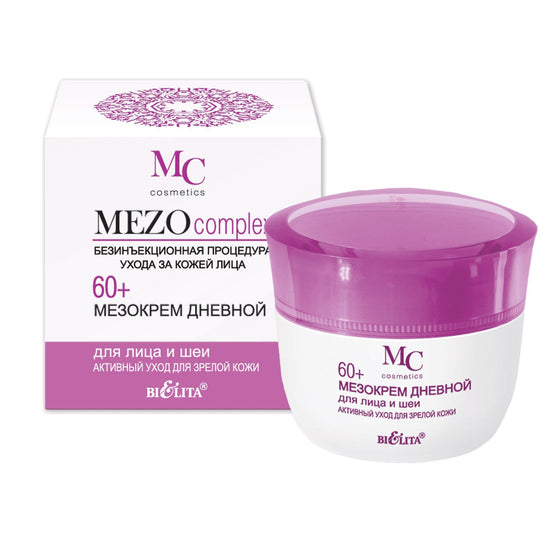 MEZO Day Cream for Face and Neck 60+ Active Care for Mature Skin - Belita.store