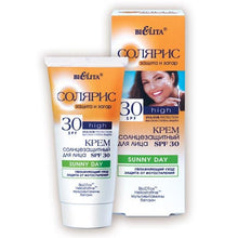 Sun Protection Face Cream SPF 30 SUNNY DAY Moisturizing Care & Photo Aging Protection - Belita.store