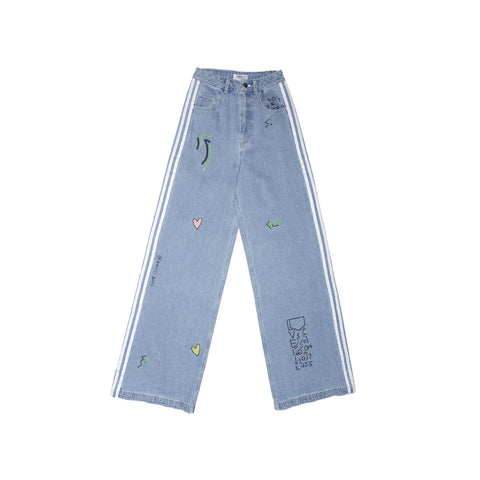 TRACK PANTS DENIM ADIDAS WSD FL4153
