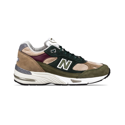 Scarpa New Balance M991 Green/Red-Ntg