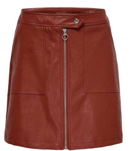 LEATHER LOOK SKIRT WWC 15181142