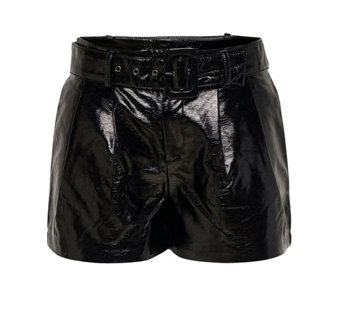 LEATHER LOOK SHORTS WWC 15186153