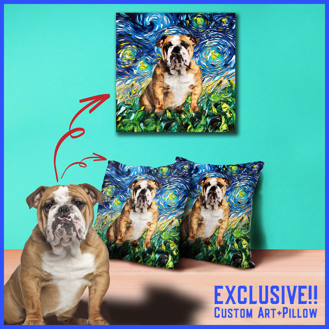 LIMITED TIME OFFER!! Custom Wall Canvas AND Pillow Starring YOUR POOCH!!