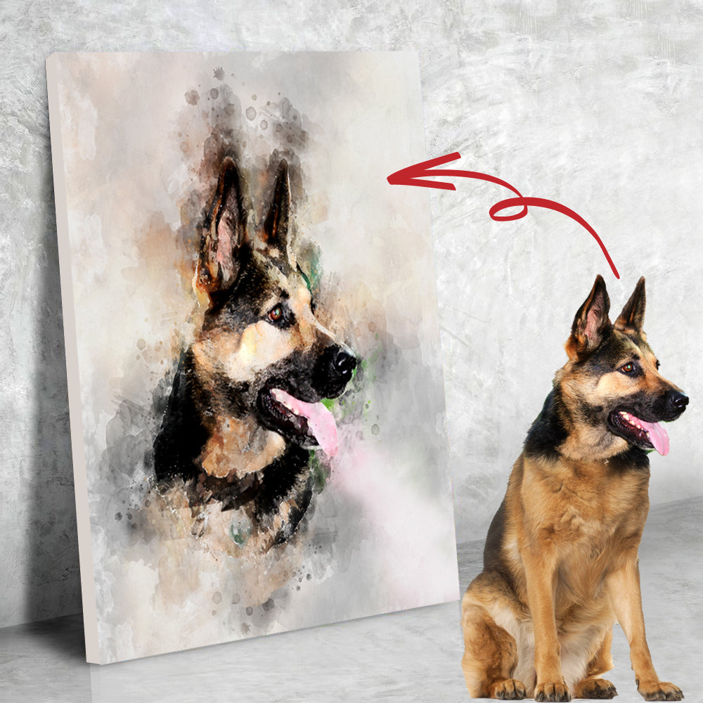 CUSTOM WATER COLOR ART OF YOUR POOCH