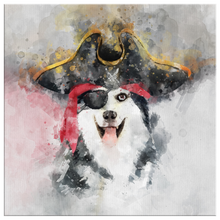 Load image into Gallery viewer, Husky Canvas - The Pirate!
