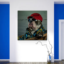 Load image into Gallery viewer, Bulldog Canvas - Too Cool for School!!