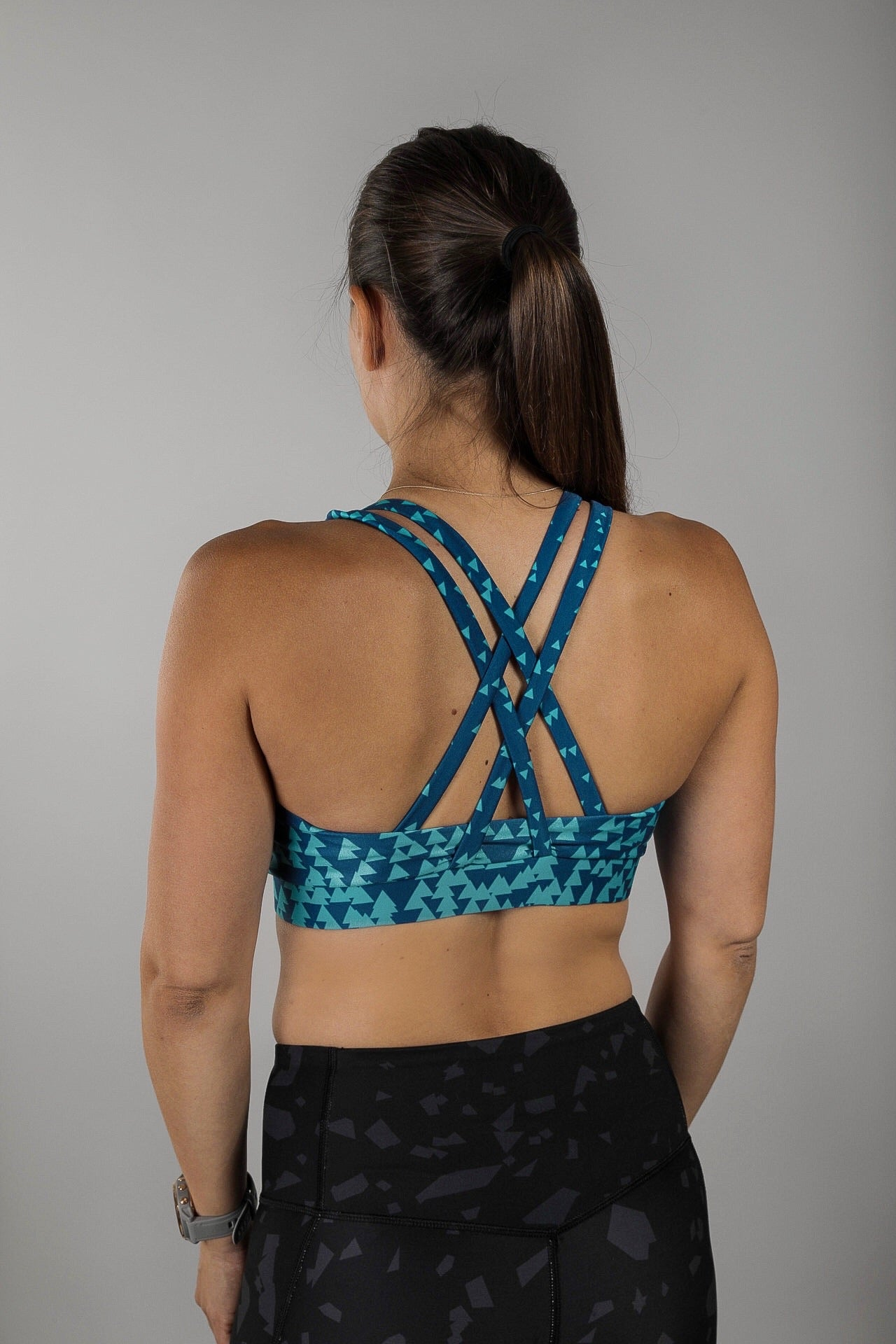 Blue Skies Strappy Sports Bra