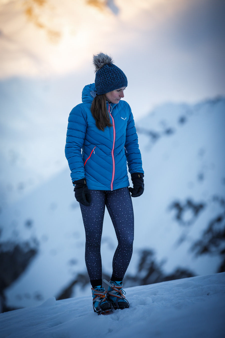 Women's outdoor winter hiking leggings Alpine Princess - for hiking, climbing, trekking, mountains and running, thermal, lined with fleece and water repellent