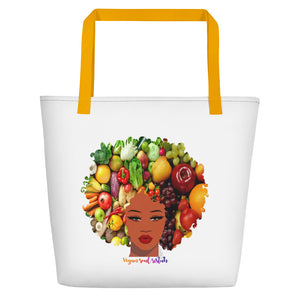 Mixed Afro VSS Beach Bag