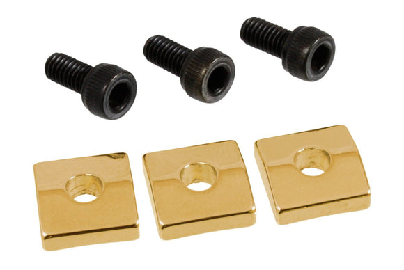 Allparts Nut Blocks with Screws, Gold, Set of 3