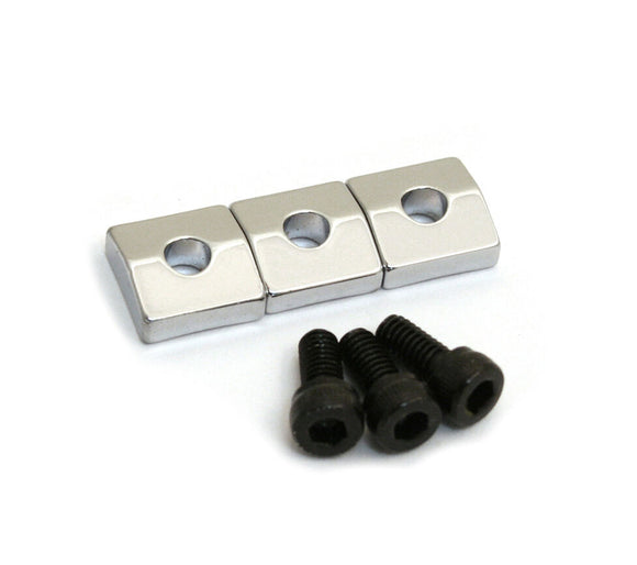 Allparts Nut Blocks with Screws, Chrome, Set of 3