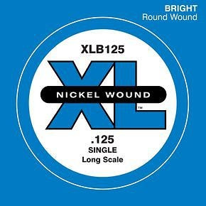 D'Addario Single XL Nickel Wound .125 Long Scale