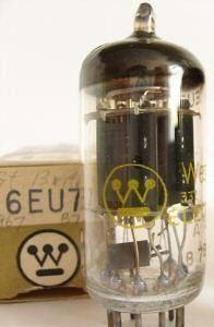 New Old Stock Westinghouse 6EU7 Preamp Tube
