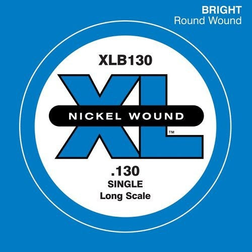 D'Addario Single XL Nickel Wound .130 Long Scale