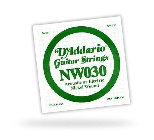 D'Addario Single .030 XL Nickel Wound String