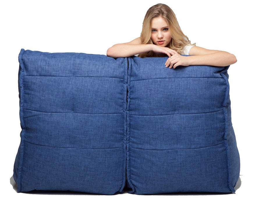 Twin Couch Modulsofa Blue Jazz
