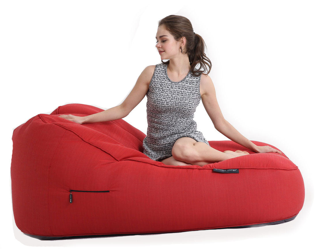 Satellite Twin Sofa Crimson Vibe (Sunbrella)