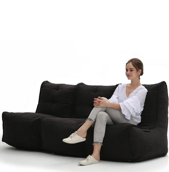 Mod 3 Movie Couch Modulsofa Black Sapphire Mod 3 Movie Couch
