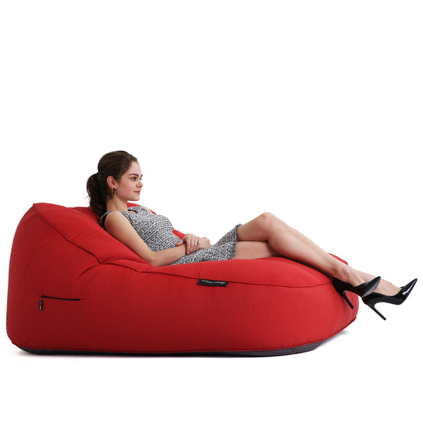 Satellite Twin Sofa Crimson Vibe (Sunbrella) Sakkosekk Satellite Twin Sofa