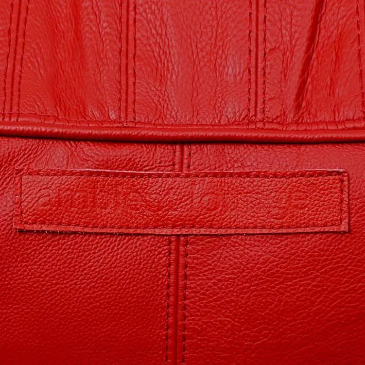 Fiorenze Hellfire Red Genuine Leather Set Sakkosekk Fiorenze