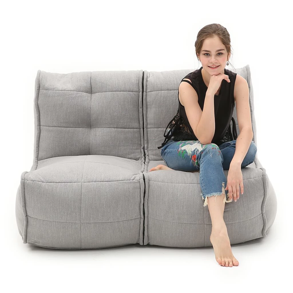 Twin Couch Modulsofa Keystone Grey Sakkosekk Twin Couch