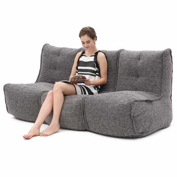 Mod 3 Movie Couch Modulsofa Luscious Grey Mod 3 Movie Couch