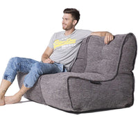 Twin Couch Modulsofa Luscious Grey Sakkosekk Twin Couch