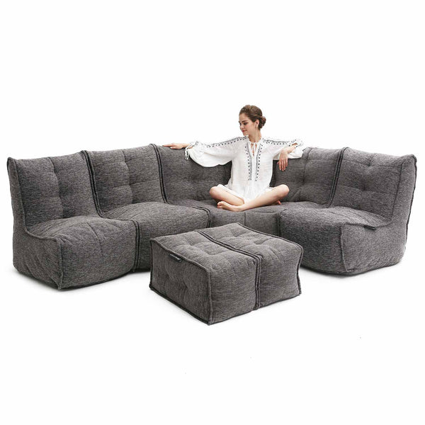 Mod 5 Living Lounge Modulsofa Luscious Grey Mod 5 Living Lounge