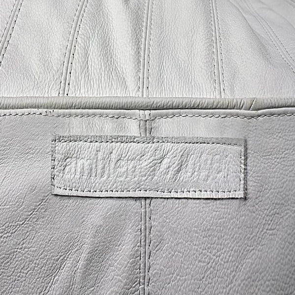 Fiorenze Santorini White Genuine Leather Set material