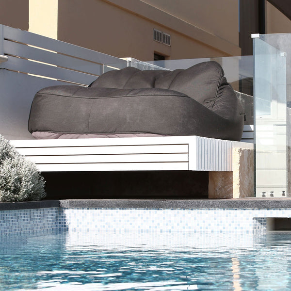 Satellite Twin Sofa Black Rock (Sunbrella) Sakkosekk Satellite Twin Sofa