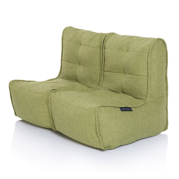 Twin Couch Modulsofa Lime Citrus Sakkosekk Twin Couch