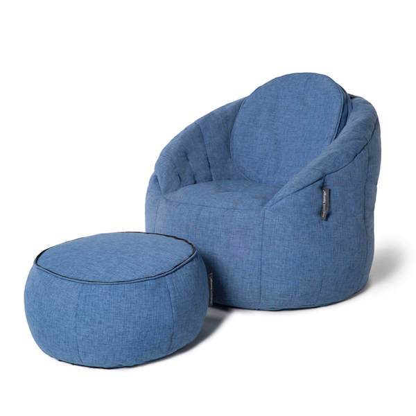 Butterfly Chaise Sett Blue Jazz Buttery chaise Indoor