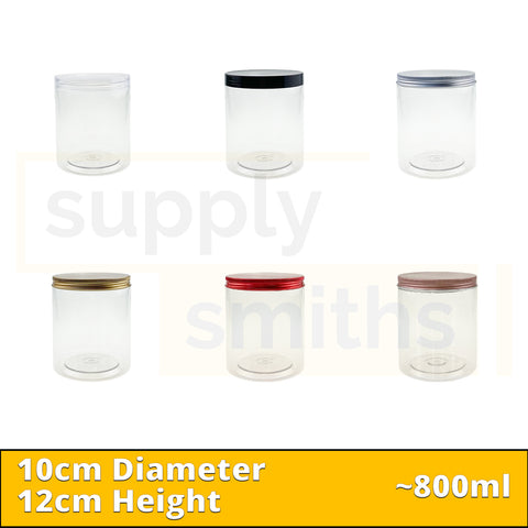 Plastic Container [10cm Diameter, 12cm Height] - 48 pcs/pack