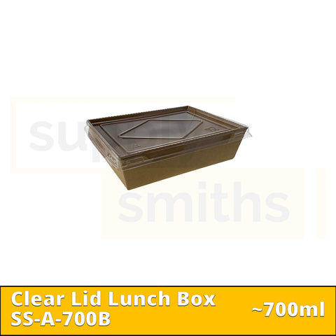 Clear Lid Lunch Box (700ml) - 200 pcs/ctn