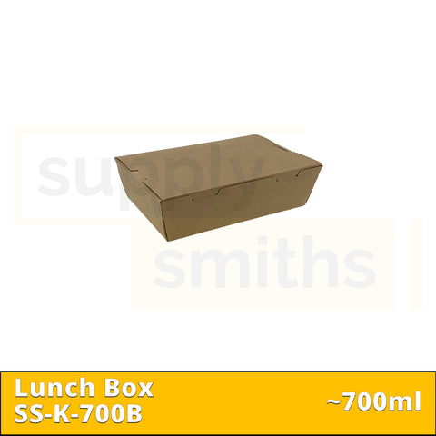 Kraft Lunch Box (700ml) - 200 pcs/ctn