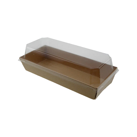 Food Tray W/ Lid [Rectangle] - 50 pcs/pack