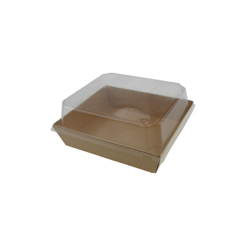 Food Tray W/ Lid [Square] - 50 pcs/pack