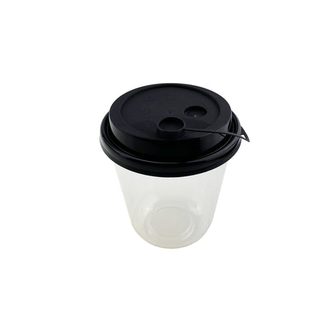 PET U-Cup w/ Black Lid (360ml) - 1000 pcs/ctn