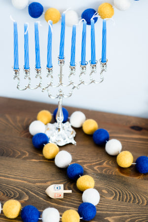 Hanukkah Garland, Hanukkah Decor, Nivas Collection
