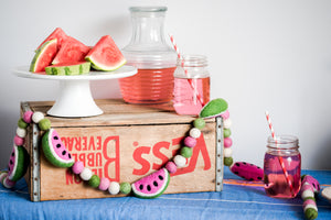 Summer decor, watermelon home decor, watermelon baby shower, Nivas Collection