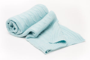 seafoam blanket, cashmere knit, baby blanket, Nivas Collection